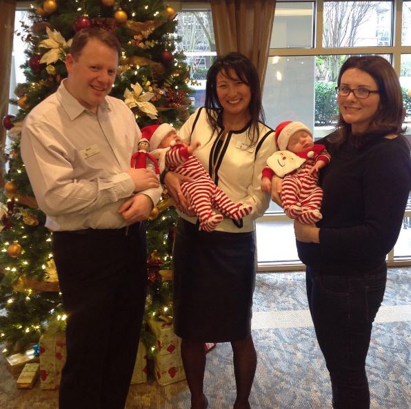 Mike brought his little ones to meet HeeSon (centre) over the holidays!