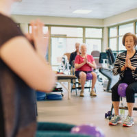 Senior citizens enjoying active living