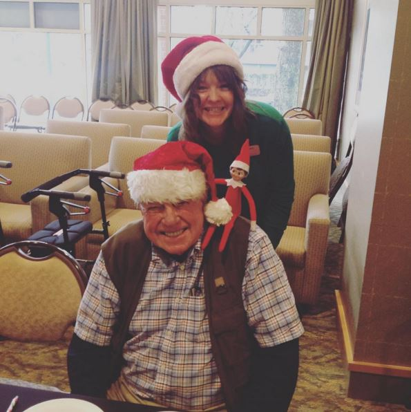 Meet Catriona from our programs department with resident _________.
