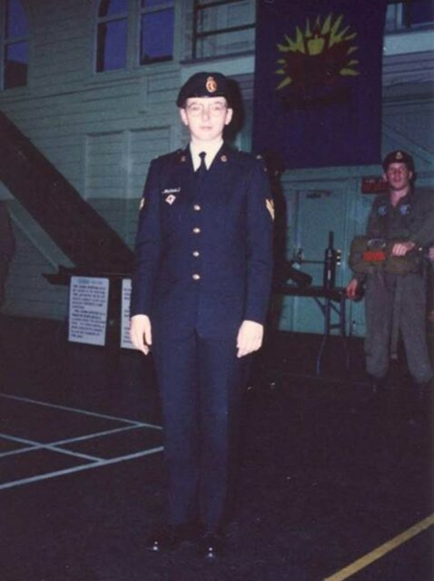 Colleen as a young reservist (November 1994)